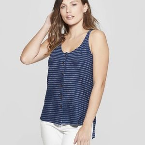 Universal Thread striped tank with front buttons